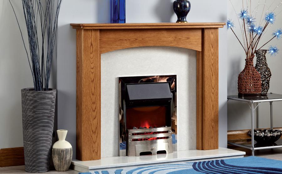 The Plymton Wooden Modern Fire Surround