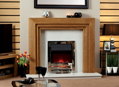 The Adelaide Wooden Modern Fire Surround