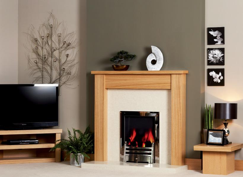 The James Wooden Modern Fire Surround
