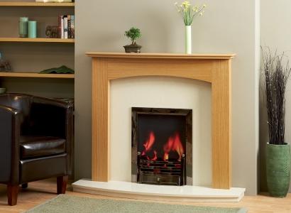 The Poppy Wooden Modern Fire Surround