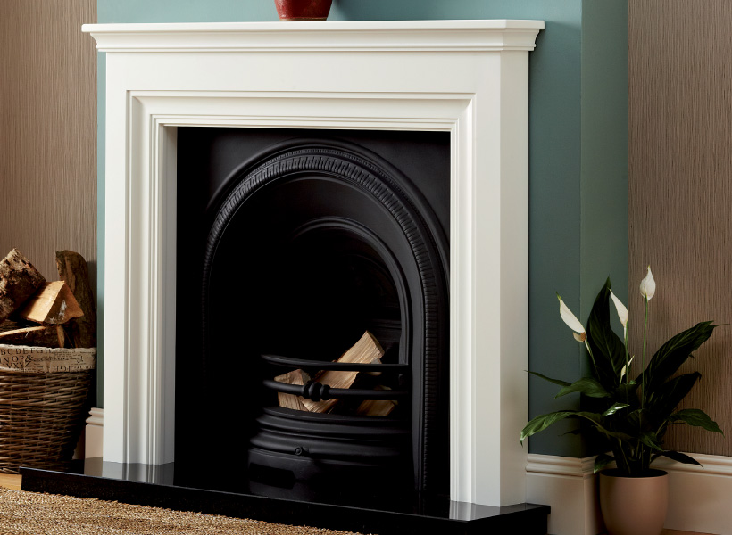 The Emmerdale White Wooden Surround