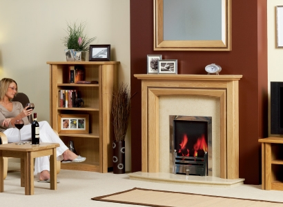 The Matlock Petite Wooden Modern Fire Surround