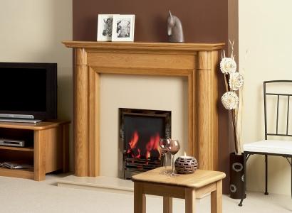 The Windermere Wooden Modern Fire Surround