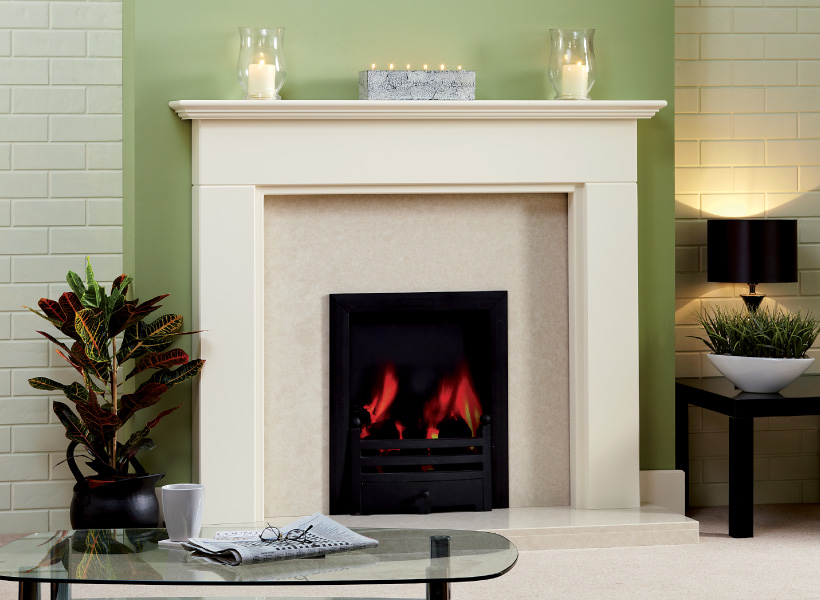 The Aysgarth White Wooden Surround