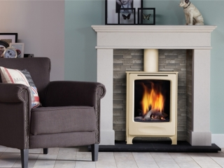 DRU Global Beau CF in Ivory Gas Stove