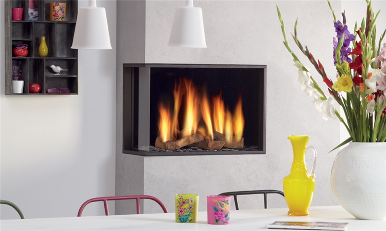 DRU Global 60 Corner BF Gas Fire