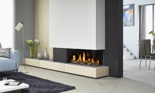 DRU Metro 100XT 2 Sided Eco Wave Gas Fire