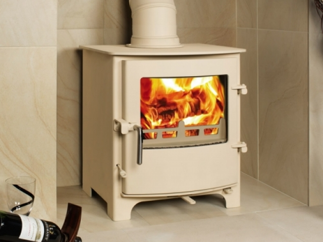 Town & Country Little Thurlow in Ivory Wood Burner