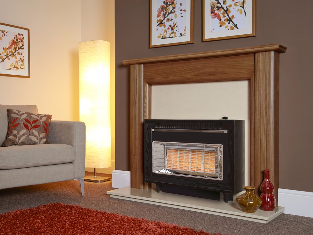 Flavel Misermatic in Black Gas Fire