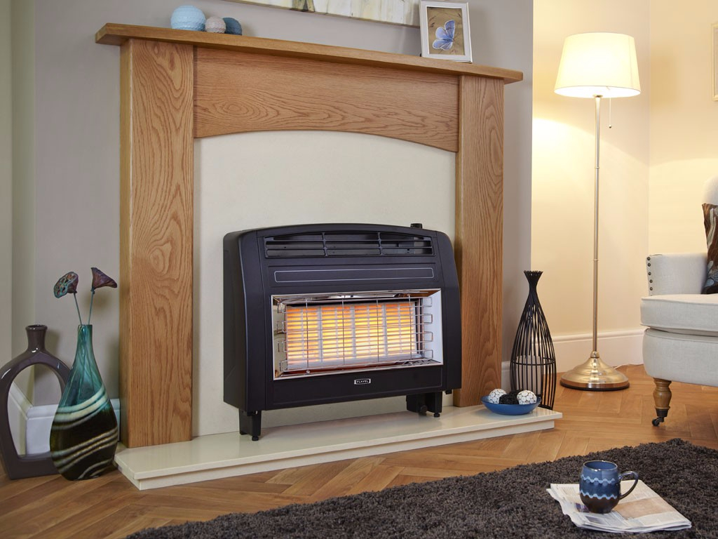 Flavel Strata in Black Gas Fire