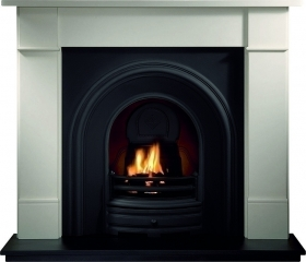 Crown Arch Cast Iron Insert with Gas Fire
