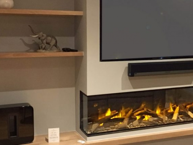 Evonic e1800 Glass Fronted 2 Sided Electric Fire