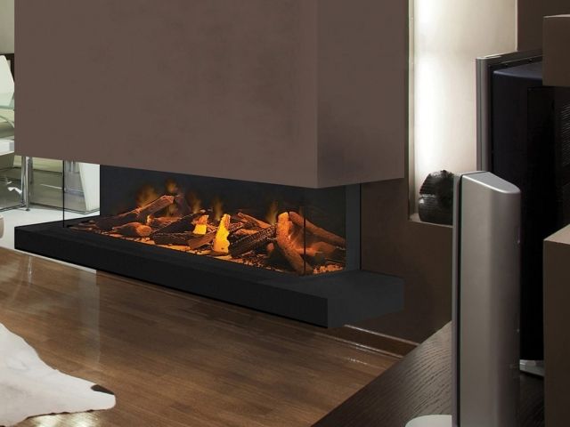 Evonic e1500 Glass Fronted 3 Sided Electric Fire