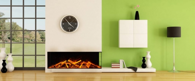 Evonic e1500 Glass Fronted 2 Sided Electric Fire
