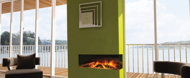 Evonic e1030 Glass Fronted 2 Sided Electric Fire