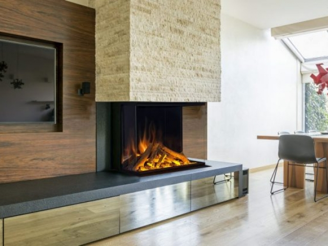 Evonic e800 Glass Fronted 3 Sided Electric Fire