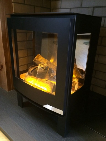 Evonic Banff3 in Black Electric Fire