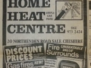 Old newspaper advert