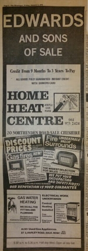 Old newspaper advert