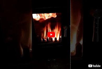 Clock Woodburners Flame Effect