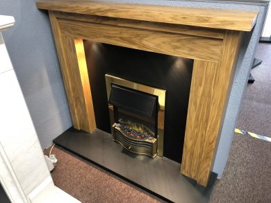 wood surround and ocean slate